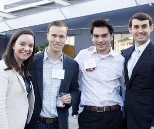 Houston, CHIME YP event at Headquarters, March 2017, Courtney Carlson, Ryan Seeley, Ryan Poblete, Cody Schneider.
