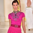 Fashion Week spring 2015 Ralph Lauren September 2014 pink gown