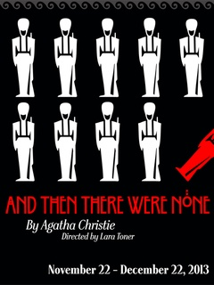 poster for Austin Playhouse production of And Then There Were None by Agatha Christie