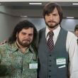 Josh Gad and Ashton Kutcher in Jobs