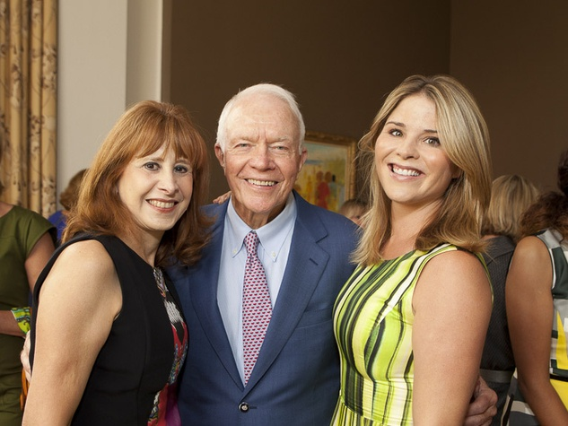 3 Vicki West, from left, Thurmon Andress and Jenna Bush Hager at the Small Steps Luncheon