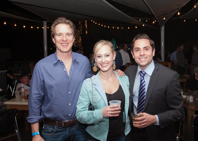 2566 Mike Collier, from left, Katie Chachere and  Marc Eichenbaum at the Friends of DePelchin Fall Carnival at Jackson's Watering Hole