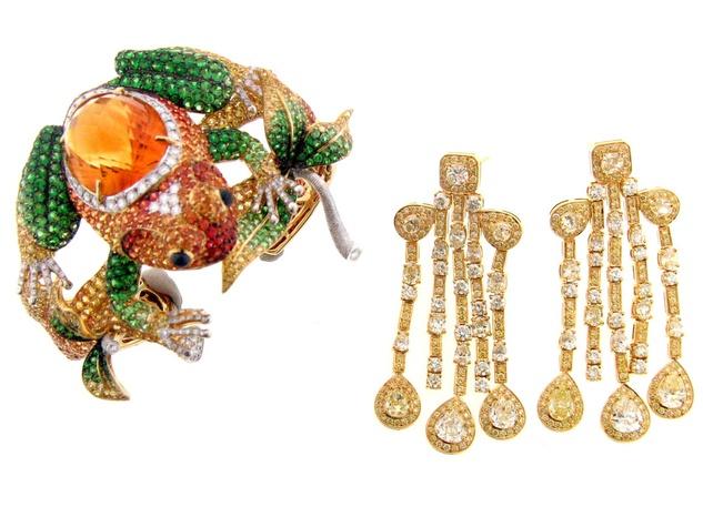 News_Nini Hale_Frog Cuff_diamonds_jewelry