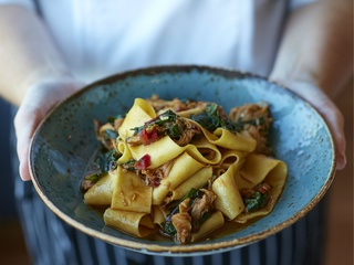Pappardelle at Gemma restaurant in Dallas