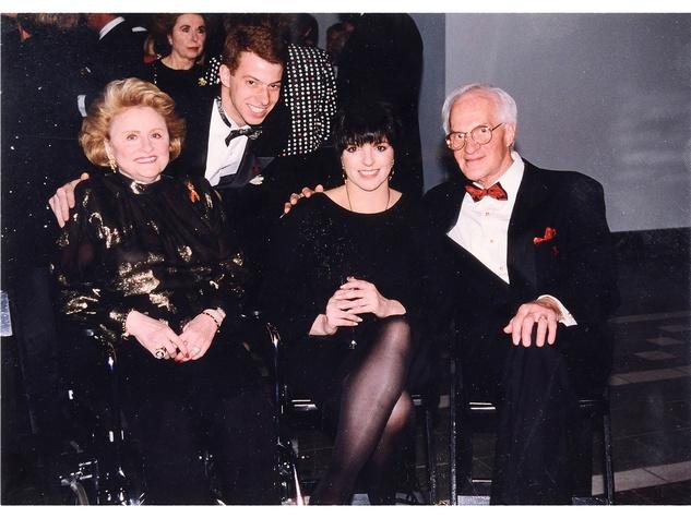 90 Maxine Mesinger auction October 2013 Maxine Mesinger, from left, NAME, Liza Minnelli, Emil Meyer Mesinger