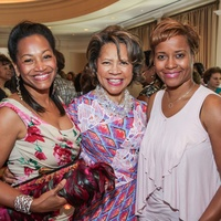 9595 Anita Smith, from left, Merele Yarborough and Deanna Laster at the National Kidney Foundation luncheon May 2014