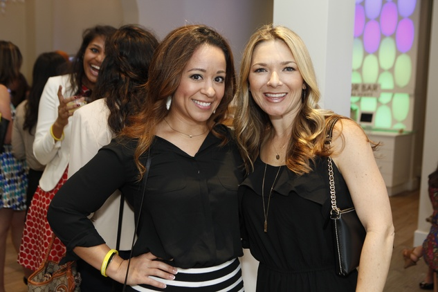 2 Elena Dickinson, left, and Heather Sanchez at WOW with Kendra Scott October 2014