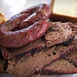 Brisket and sausage at Lockhart Smokehouse in Dallas
