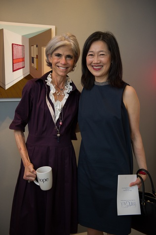 Judy Nyquist, Anne Chao at Planned Parenthood Fine Art Auction