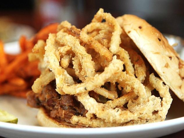 Pork It Over sandwich at Black Walnut Cafe