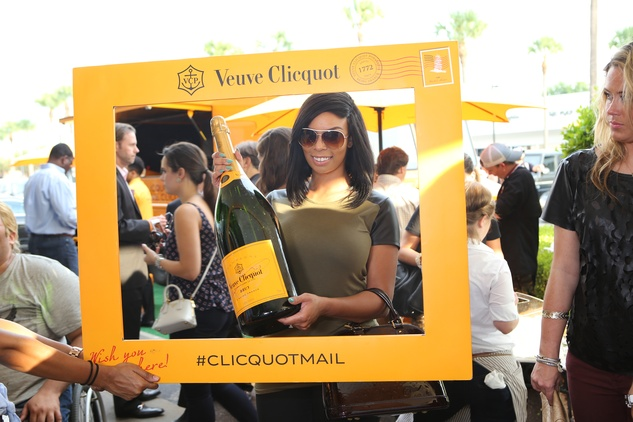 Chandee Perkins at Veuve Clicquot at Brasserie 19