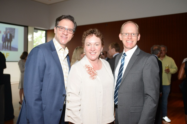 7 David LaDuca, from left, Julie Farr and Aaron Reimer at the HFAF Launch at the Asia Society June 2014