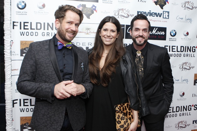 Jeff Shell, from left, Ally Shell and Fritz Lucio at Fashion Woodlands with Theresa Roemer March 2015