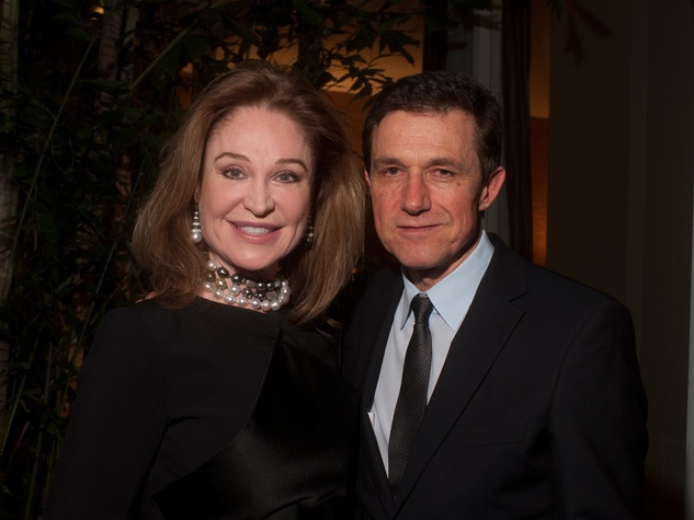 7 Becca Thrash and Josef Helfenstein at the Lynn Wyatt reception at Menil House December 2013