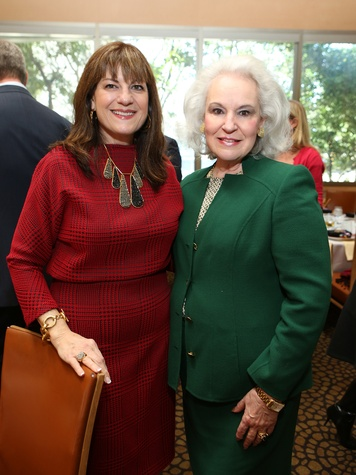 100 Ellie Francisco, left, and Donna Bruni at the Houston Grand Opera Ball luncheon February 2014