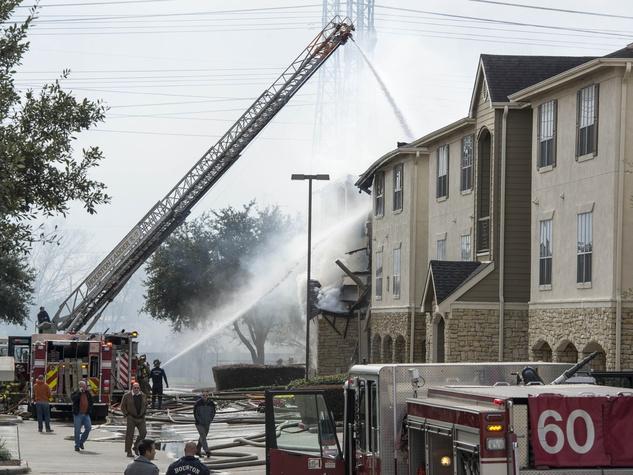 1 Remington Park Apartments fire January 2014
