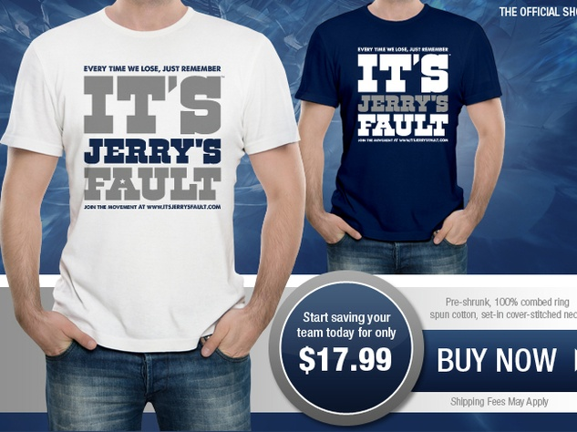 It's Jerry's Fault T-shirts