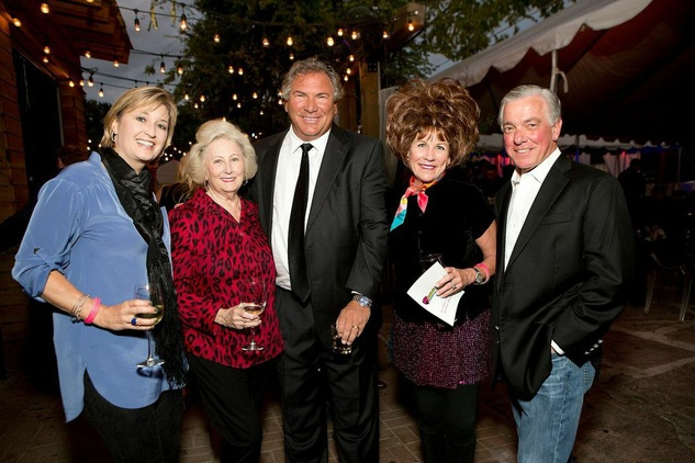 2 Amy Reid, from left, Jo Ann Cone, John Schiller and Ollabelle and Gary Hall at the K9s 4 Cops benefit November 2014