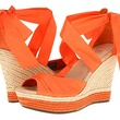 zappos orange ankle tie wedges