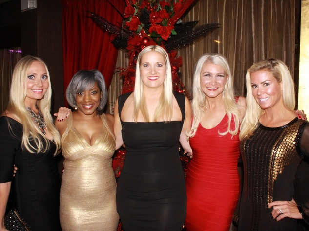 Lori Lemon-Geshay, from left, Monitrice Malone, Nicole Brende, Laura Cernock and Heather Baker at Mr. Peeples' Toys for Tots Holiday Toy Drive December 2013