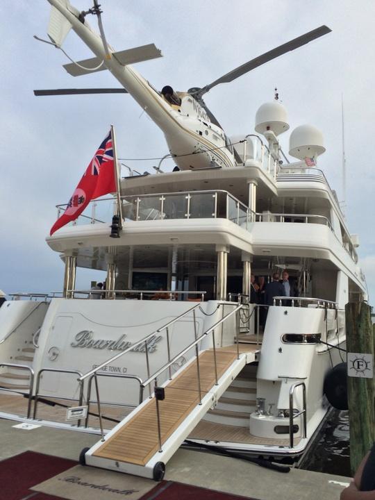 Tilman Fertitta yacht Boardwalk May 2014