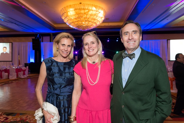 0246 Cindy Kahle, from left, Dabney Pierce and  Jim Pierce at the Cristo Rey Jesuit Gala January 2015