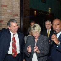 News, Mayor's Hispanic Advisory Board party, Dec. 2015, roland Garcia, Annise Parker, Sylvester Turner