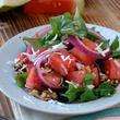 Arcodoro Anguria Fresh watermelon salad, arugula, red onions & citrus raspberry vinaigrette THIS