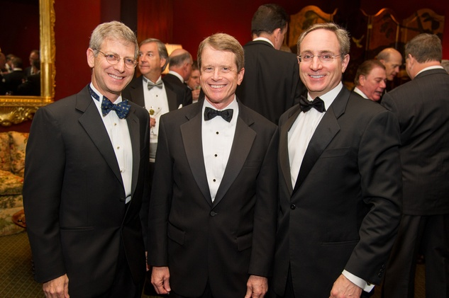 6 Jonathan S. Finger, from left, Dean R. Gladden and Scott N. Wulfe at the Alley Theatre's Wild Things dinner November 2013