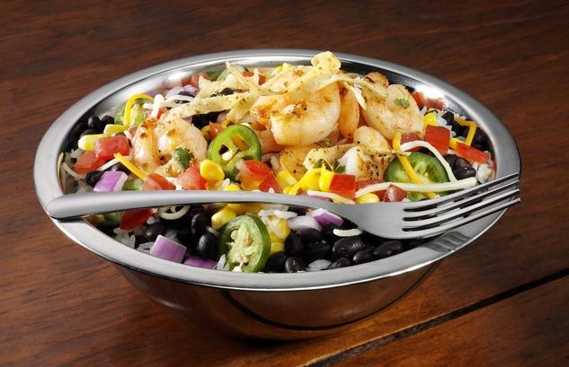 Uberrito shrimp bowl