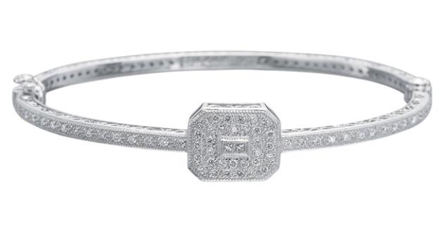 Charriol Art Deco Diamond Bangle