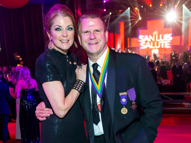 32 Paige and Tilman Fertitta at the San Luis Salute February 2015