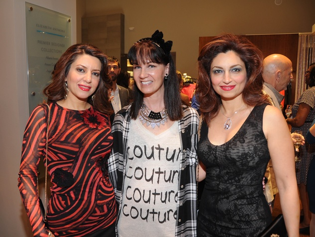 Parissa Mohajer, Beth Muecke, Mahzad Mohajer at Passion for Fashion party at Elizabeth Anthony