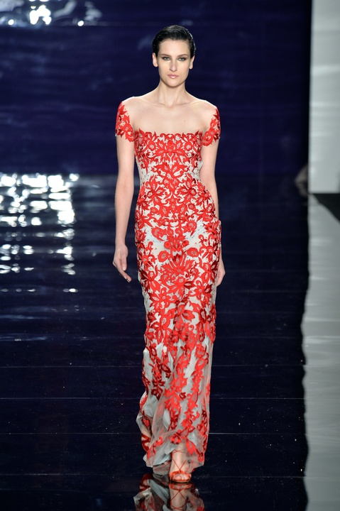 Reem Acra evening gown Fall 2014 collection