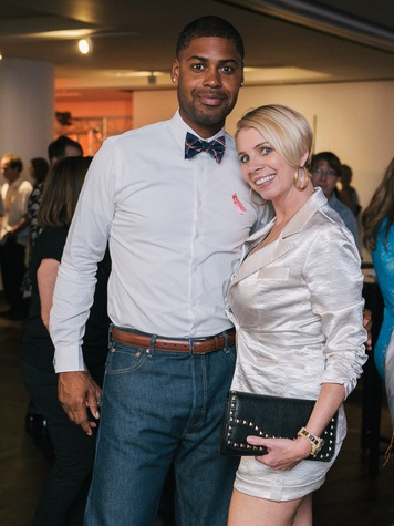 25 Kevin Hampton and  Leurena Reese at CultureMap fifth anniversary birthday party October 2014