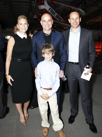 Andre Agassi, Lael and Peter Brodsky, Luke Brodsky