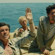 Finn Wittrock, Domhnall Gleeson and Jack O'Connell in Unbroken