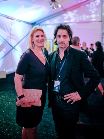 Simone Anna Blumenthal and Steve Sabella at the FotoFest opening party March 2014