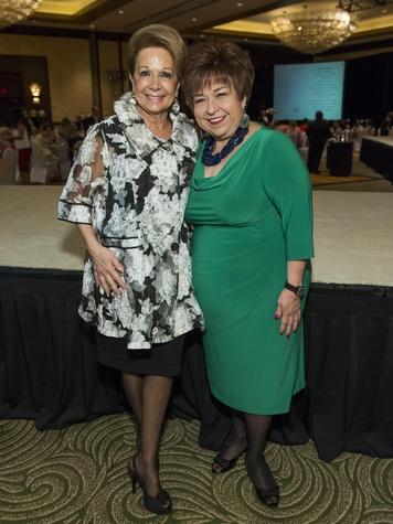 21 Philamena Baird, left, and Trini Mendenhall Sosa at the Latin Womens Initiative May 2014