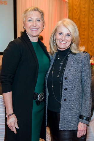 News, Shelby, Red Cross Luncheon, Feb. 2015, Carol Linn, Denise Monteleone