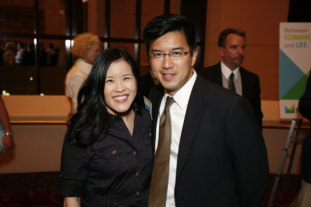 1 Emily Kuo and Michael Chu at the Marketplace Show October 2014