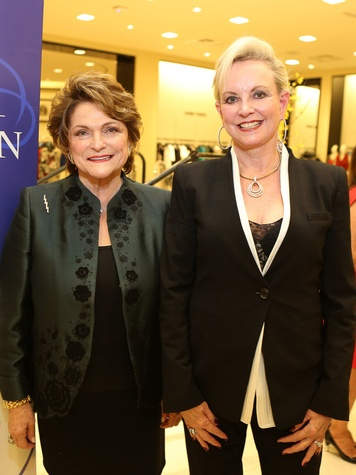 Beth Wolff, left, and Jane-Page Crump at the Winter Ball kick-off event
