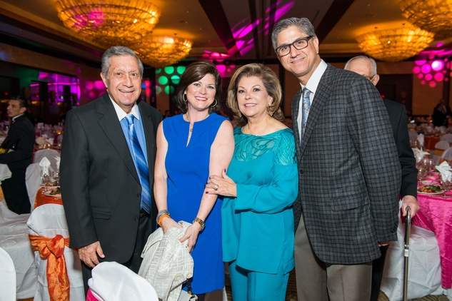 0186 Lupe Fraga, from left, Susan Tumminello, Irene Fraga and Peter Tuminello at the Cristo Rey Jesuit Gala January 2015