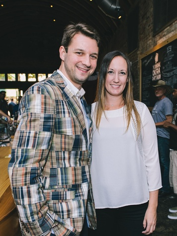Liam Bonner and Allison Lott at the Houston Symphony Young Professionals Backstage kick-off party
