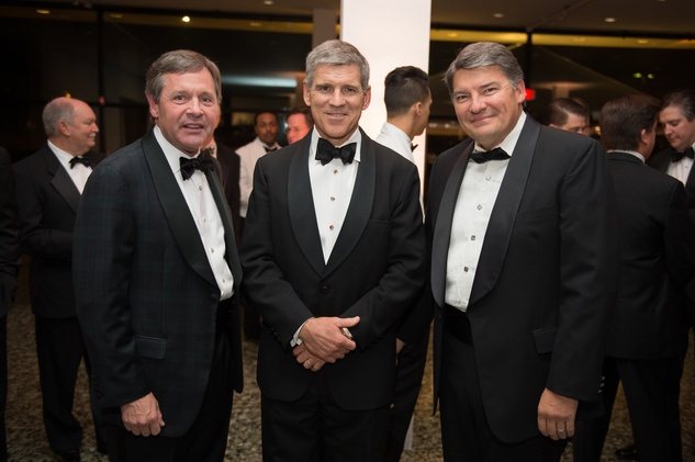 Paul Murphy, from left, Paul Hobby and Keith Maxwell at Museum of Fine Arts Houston MFAH One Great Night November 2014