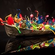News_Through the Looking Glass_Dale Chihuly_Ikebana Boat