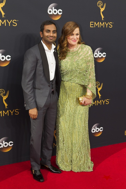 Aziz Ansari and Amy Poehler at Emmy Awards