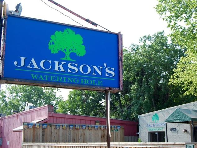 Jackson's Watering Hole sign Houston