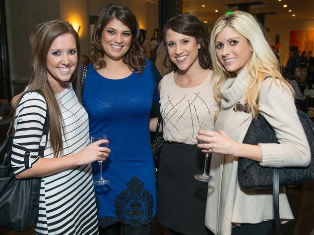 22 Rachel Toney, from left, Reah Aitken, Kathryn Strauss and Emily Bomar at the JW Marriott Houston Grand Opening November 2014
