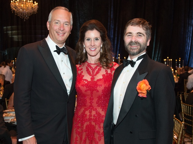 38 Bobby and Phoebe Tudor, left, with Stanton Welch at the Houston Ballet Ball February 2015